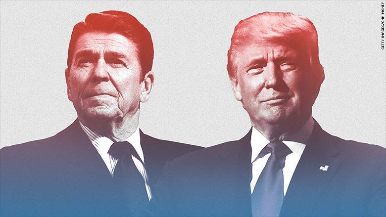 Reagan et Trump